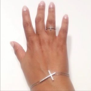 New 925 Sterling Silver Bracelet And Ring